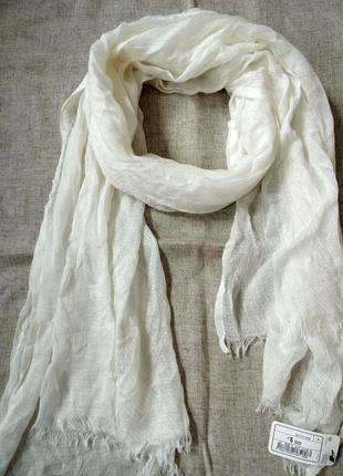 Шарф, палантин, натуральная ткань