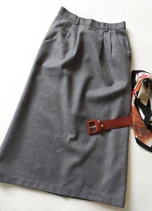Винтажная. юбка. миди. высокая посадка. костюмная ткань