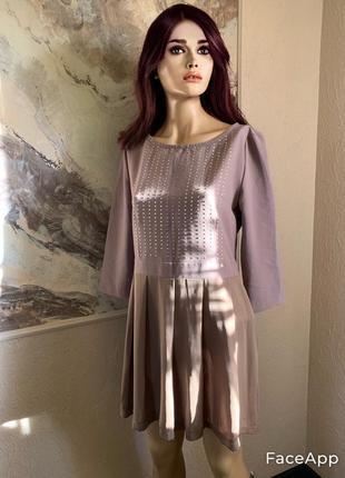 Нарядное платье цвета кофе с молоком бренд kor kor италия