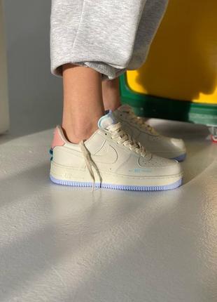 Nike air force 1 beige/purple 🆕 шикарные кроссовки найк 🆕 купить наложенный платёж