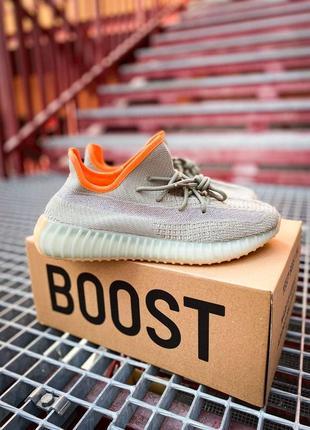 Adidas yeezy 350 v2 desert sage 🤩 шикарные женские кроссовки адидас изи 👟36-45 р (унисекс)
