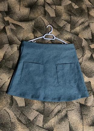 Плотная мини юбка