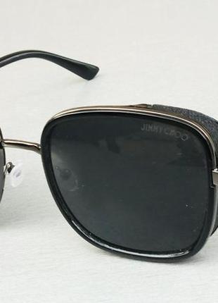 Jimmy choo очки женские солнцезащитные черные с боковыми защитными шторками