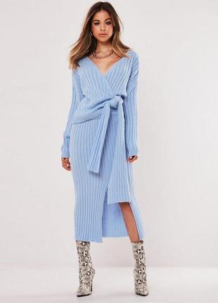 Распродажа костюм комплект misguided вязаный джемпер + юбка миди c asos