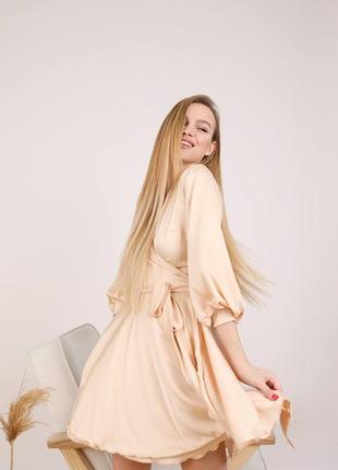 Шелковое платье на запах ♡
