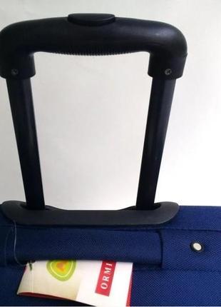 Чемодан двухколесный тканевый для ручной клади, ormi италия4 фото