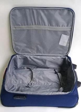 Чемодан двухколесный тканевый для ручной клади, ormi италия2 фото