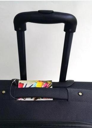 Чемодан двухколесный тканевый для ручной клади, ormi италия3 фото