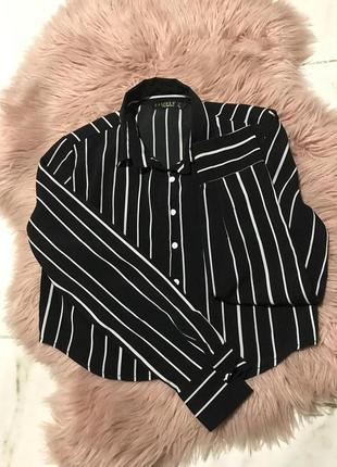 Короткая рубашка в полоску
