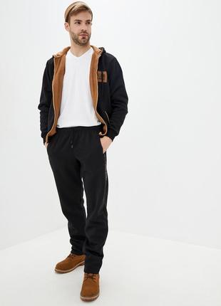 Мужской теплый трикотажный костюм со вставками из замши, турецкая ткань (502 евро)