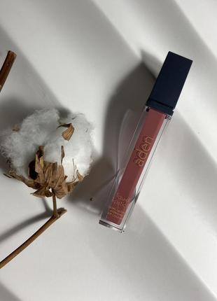 Матовая помада aden 06, аден жидкая помада liquid lipstick aden 6 chocolate № 06