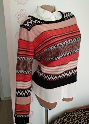 Яркий свитер atmosphere, укороченний светр