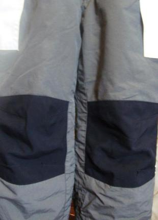 Штаны зимние утепленные полукомбинезон серо-черные h&m 110 см. 4-5 лет