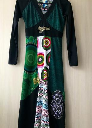 Платье макси в испанском стиле desigual / m