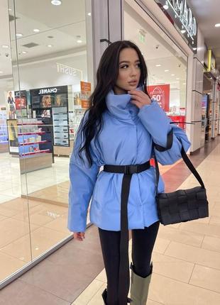Женская стильная куртка эко-кожа