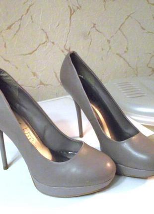 Утонченные классические туфли new look, р.41-42 кожа!