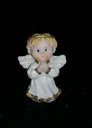 Статуэтка ангел, ангелочек, ребенок, фигурка, нимб
