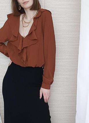 Блуза из вискозы с рюшами