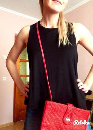 Черная базовая фирменная майка h&m basic,летняя маечка+подарок ремешок5 фото
