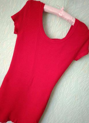Платье-туника с красивой спинкой