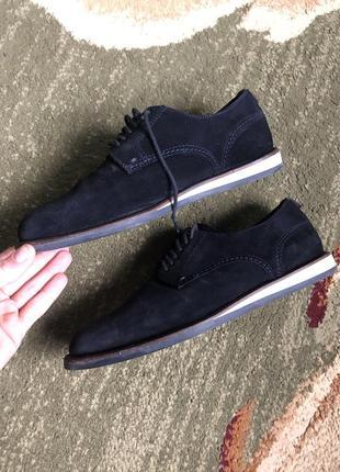 Мужские темно-синие замшевые ботинки, hugo boss