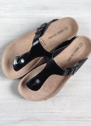 Ортопедические сланцы miss fiori 40 р 26 см кожаные шлепки сандали вьетнамки на лето