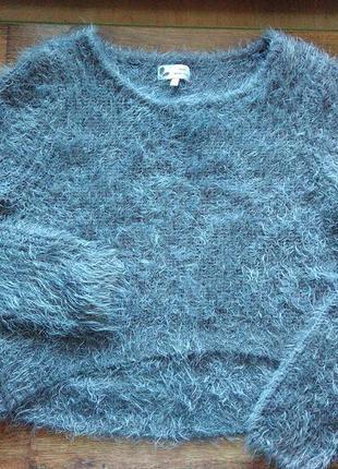 Пушистый-травка свитер