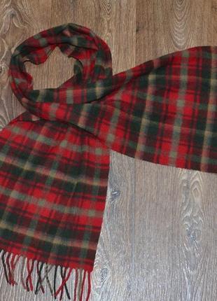 Фирменный кашемировый шарф johnstons of elgin