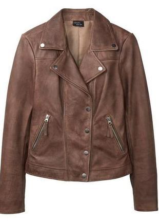 Кожаная женская куртка-косуха edmara by heidi klum 42 eur