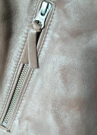 Кожаная женская куртка-косуха edmara by heidi klum 42 eur5 фото