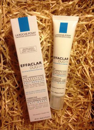 Корректирующее средство для жирной кожи la roche-posay effaclar duo+  миниформаты