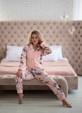 Пижама попожама с карманом на попе розовая подарок девушке на 14 февраля