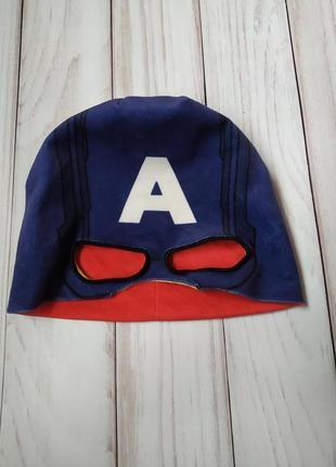 Флисовая двустороння шапка капитан америка железный человек