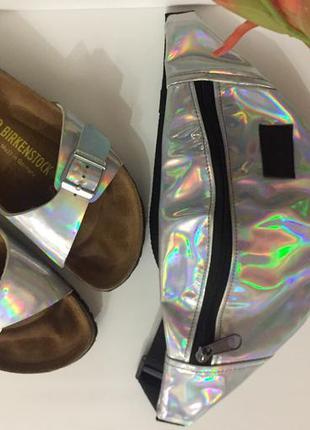 Birkenstock hologram original + поясная сумка