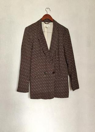 Свободный удлиненный жакет пиджак вискоза