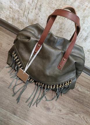 Новая сумка цвета хаки фирмы auren