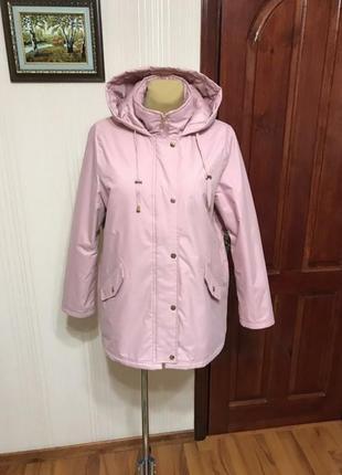 Отличная куртка  на утеплителе нежно розового цвета