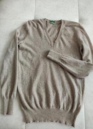 Меринос шерсть benetton свитер джемпер полувер