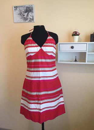 Платье сарафан в полоску хлопок