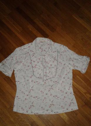 "Качественная стильная хлопковая блуза bon""a parte m(38)р."