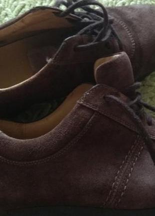 Качественные кроссовки мокасины кожаные 40р clarks