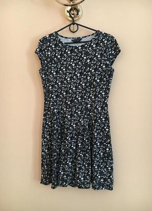 Классное стильное натуральное платье платьице сердечки плаття сукня в серж