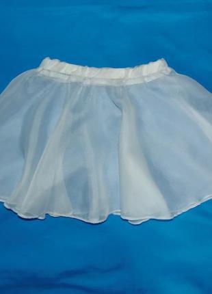 Шифоновая юбка,юбочка для танцев от 4 до 8 лет