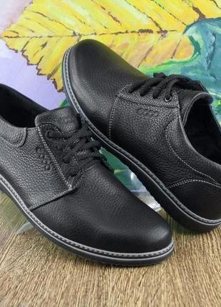 Кожаные мужские туфли кроссовки ecco