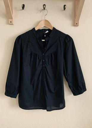 Батистовая блуза с рукавом-фонарик