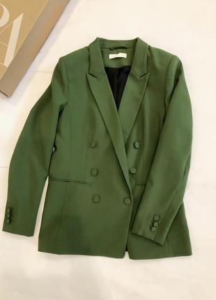 Пиджак h&m zara изумрудного цвета