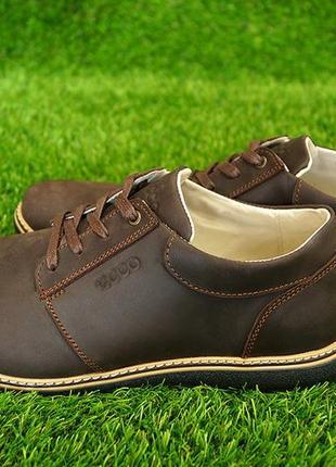 Мужские кожаные туфли на шнурках ессо
