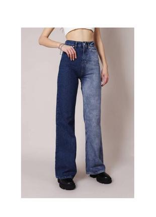 """Свободные широкие джинсы """"палермо"""" romashka темный джинс момы бананы"""