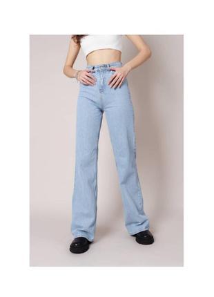 """Свободные широкие джинсы """"палермо"""" romashka голубые момы бананы"""