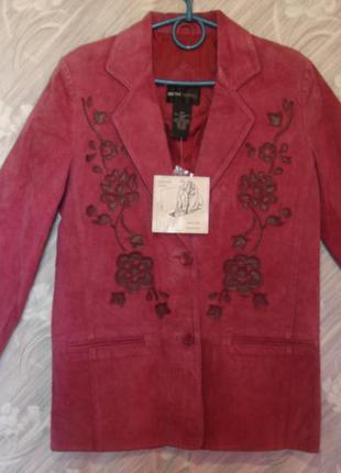 """Стильный пиджак- куртка из натуральной замши  """"bethterrell""""  m-l   сток"""